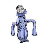 Ο Piero χρωμάτισε το χαρακτήρα σε ένα άσπρο υπόβαθρο Στοκ φωτογραφία με δικαίωμα ελεύθερης χρήσης