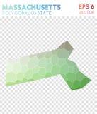 Ο polygonal χάρτης της Μασαχουσέτης, μωσαϊκό μας ορίζει ελεύθερη απεικόνιση δικαιώματος