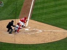 Ο Robert Stephenson κάνει το ντεμπούτο Major League Baseball του Στοκ Εικόνες