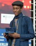 Ο Samuel Ishimwe, νικητής του ασημιού αντέχει το βραβείο κριτικών επιτροπών σε Berlinale το 2018 Στοκ εικόνα με δικαίωμα ελεύθερης χρήσης