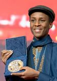 Ο Samuel Ishimwe, νικητής του ασημιού αντέχει το βραβείο κριτικών επιτροπών σε Berlinale το 2018 Στοκ εικόνες με δικαίωμα ελεύθερης χρήσης