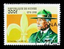 Ο Sir Baden-Powell, το διεθνές όργανο ανιχνεύσεων 90ης επετείου Στοκ φωτογραφία με δικαίωμα ελεύθερης χρήσης