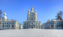 Ο Smolny καθεδρικός ναός, Αγία Πετρούπολη, Ρωσία Στοκ εικόνα με δικαίωμα ελεύθερης χρήσης