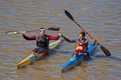 Ο Solomon, Boros κερδίζει το Berg River Canoe Marathon το 2018 στοκ φωτογραφίες