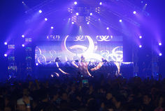 Ο STEVE AOKI παρουσιάζει 808 στο ΦΕΣΤΙΒΆΛ το 2013 Στοκ εικόνες με δικαίωμα ελεύθερης χρήσης