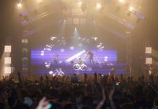 Ο STEVE AOKI παρουσιάζει 808 στο ΦΕΣΤΙΒΆΛ το 2013 Στοκ εικόνα με δικαίωμα ελεύθερης χρήσης