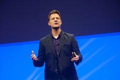 Ο Steve Lucas παραδίδει μια διεύθυνση στη διάσκεψη της SAP TechEd το 2015 Στοκ Φωτογραφία