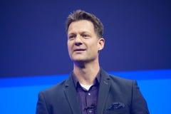 Ο Steve Lucas παραδίδει μια διεύθυνση στη διάσκεψη της SAP TechEd το 2015 Στοκ Εικόνες
