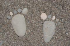 Ο Stone πληρώνει στην παραλία Στοκ Εικόνα
