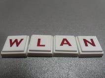 Ο wlan λέξης φιαγμένος επάνω από επιστολές Στοκ φωτογραφία με δικαίωμα ελεύθερης χρήσης