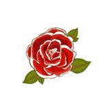 有说谎在玫瑰花瓣的红色头发的性感的妇女