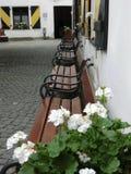 Πάγκοι σε ένα κάστρο Στοκ εικόνα με δικαίωμα ελεύθερης χρήσης