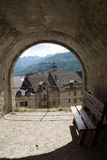 Πάγκοι σε Briancon, Γαλλία στοκ φωτογραφίες με δικαίωμα ελεύθερης χρήσης