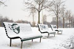 Πάγκοι στο πάρκο Στοκ φωτογραφίες με δικαίωμα ελεύθερης χρήσης
