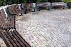 Πάγκοι semicircle Στοκ Εικόνες