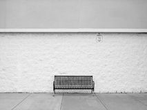 πάγκος απομονωμένος Στοκ Φωτογραφίες