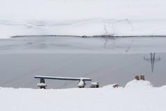 Πάγκος από τον ποταμό Στοκ Φωτογραφίες