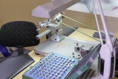 Πάγκος εργασίας watchmaker Στοκ εικόνα με δικαίωμα ελεύθερης χρήσης