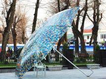 Πάγκος κάτω από την ομπρέλα Στοκ Εικόνα