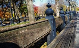 Πάγκος κήπων της Νέας Υόρκης Στοκ Εικόνες