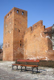 πάγκος κενή Βαρσοβία στοκ εικόνα