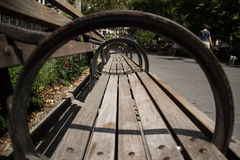 Πάγκος πάρκων στην πλάγια όψη Στοκ Εικόνες
