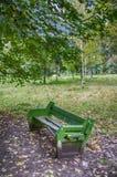 Πάγκος πάρκων το φθινόπωρο Στοκ Εικόνα