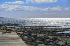 Πάγκος στην παραλία Tenerife Κανάρια νησιά tenerife Στοκ εικόνες με δικαίωμα ελεύθερης χρήσης