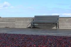 Πάγκος στο κόκκινο Terrasse Στοκ φωτογραφία με δικαίωμα ελεύθερης χρήσης
