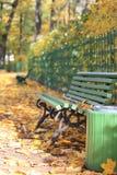 Πάγκος στο πάρκο φθινοπώρου (Αγία Πετρούπολη, Ρωσία) Στοκ φωτογραφία με δικαίωμα ελεύθερης χρήσης