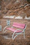Πάγκος στο πάρκο Όμορφη θέση o στοκ φωτογραφίες