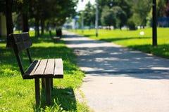Πάγκος στο πάρκο Στοκ Εικόνα