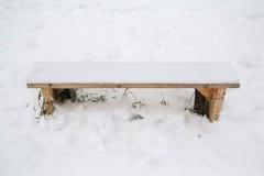 Πάγκος στο χιόνι Στοκ εικόνες με δικαίωμα ελεύθερης χρήσης