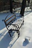Πάγκος στο χιόνι Στοκ Εικόνες