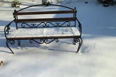 Πάγκος στο χιόνι Στοκ Εικόνα