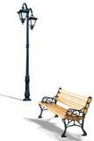 πάγκος lamppost στοκ φωτογραφίες με δικαίωμα ελεύθερης χρήσης
