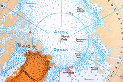 πάγος λίγος βόρειος penguins πόλος νύχτας Στοκ Εικόνες
