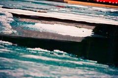 Πάγος από τη λίμνη Grassi Στοκ Φωτογραφίες