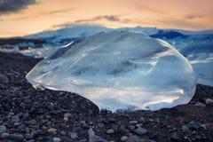 Πάγος και λίμνη Jokulsarlon Στοκ φωτογραφίες με δικαίωμα ελεύθερης χρήσης