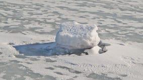 Πάγος-καλυμμένος ποταμός Στοκ Εικόνες