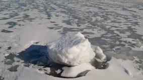 Πάγος-καλυμμένος ποταμός Στοκ Φωτογραφίες