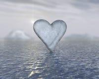 πάγος καρδιών Στοκ εικόνες με δικαίωμα ελεύθερης χρήσης
