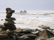 Πάγος-καλυμμένη λίμνη Baikal Άνοιξη Στοκ εικόνα με δικαίωμα ελεύθερης χρήσης
