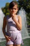 πάγος κοριτσιών κρέμας Στοκ εικόνα με δικαίωμα ελεύθερης χρήσης