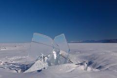 Πάγος με το μπλε ουρανό Στοκ Φωτογραφίες