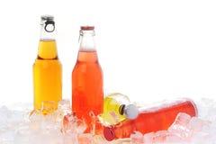 πάγος ποτών μπουκαλιών Στοκ Εικόνες