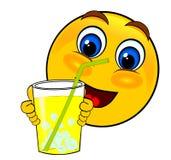 Πάγος ποτών χαμόγελου emoticons ελεύθερη απεικόνιση δικαιώματος