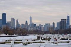 Πάγος που αλιεύει στο Σικάγο στοκ εικόνα