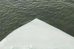 Πάγος που επιπλέει στο χρόνο ποταμών την άνοιξη Στοκ φωτογραφία με δικαίωμα ελεύθερης χρήσης
