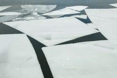 Πάγος που επιπλέει στο χρόνο ποταμών την άνοιξη Στοκ εικόνες με δικαίωμα ελεύθερης χρήσης